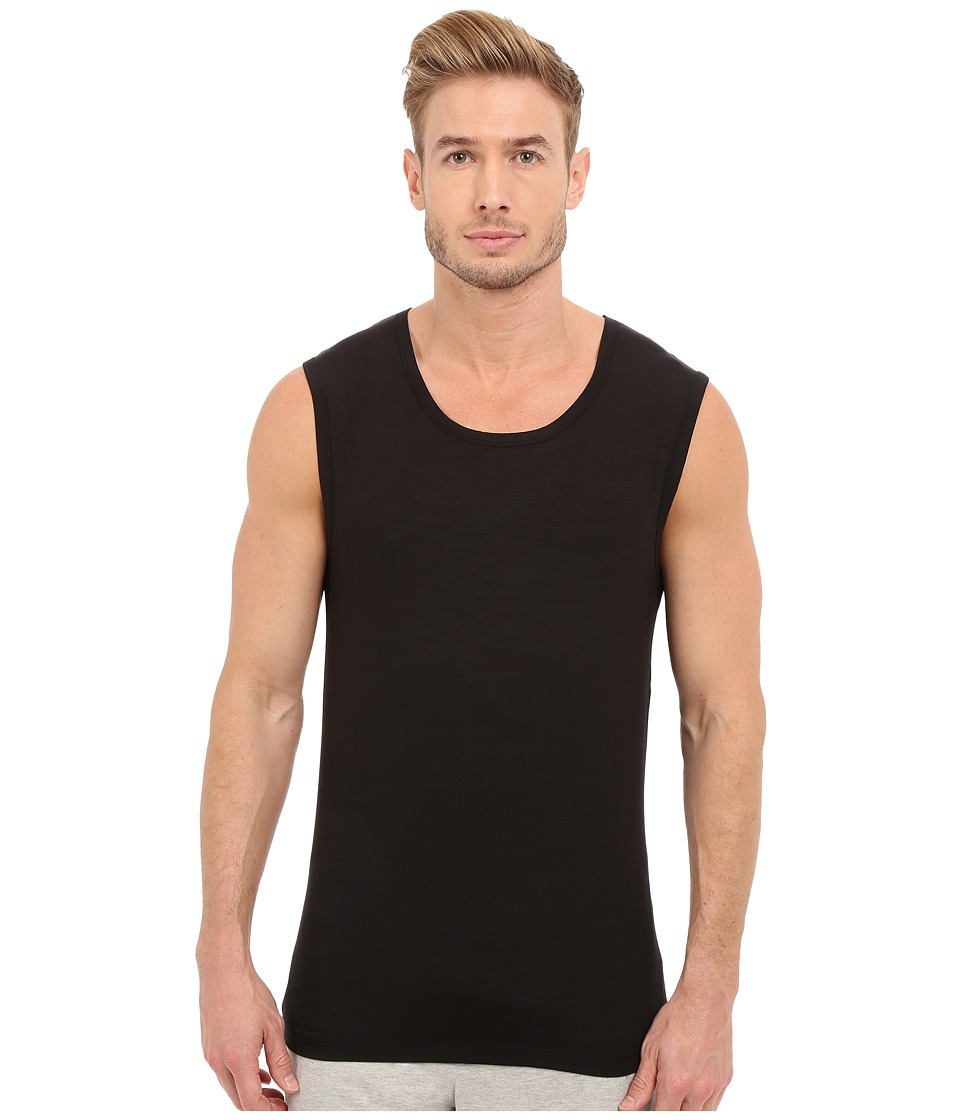 BOSS Hugo Boss - SeaCell Sleeveless Top (Black) Men's Sleeveless