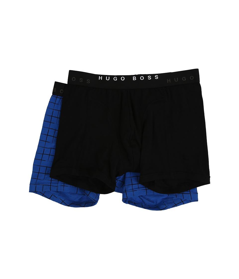 BOSS Hugo Boss - Cyclist 2-Pack Plaid (Black/Blue) Men's Underwear