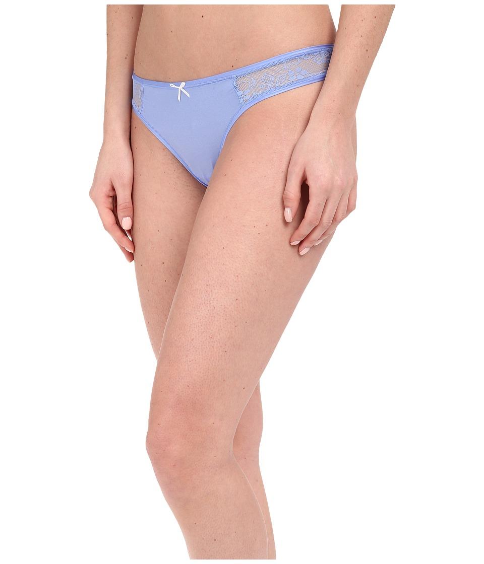 Betsey Johnson - Slinky Knit Lace Thong J2950 (Blue Dahlia) Women's Underwear