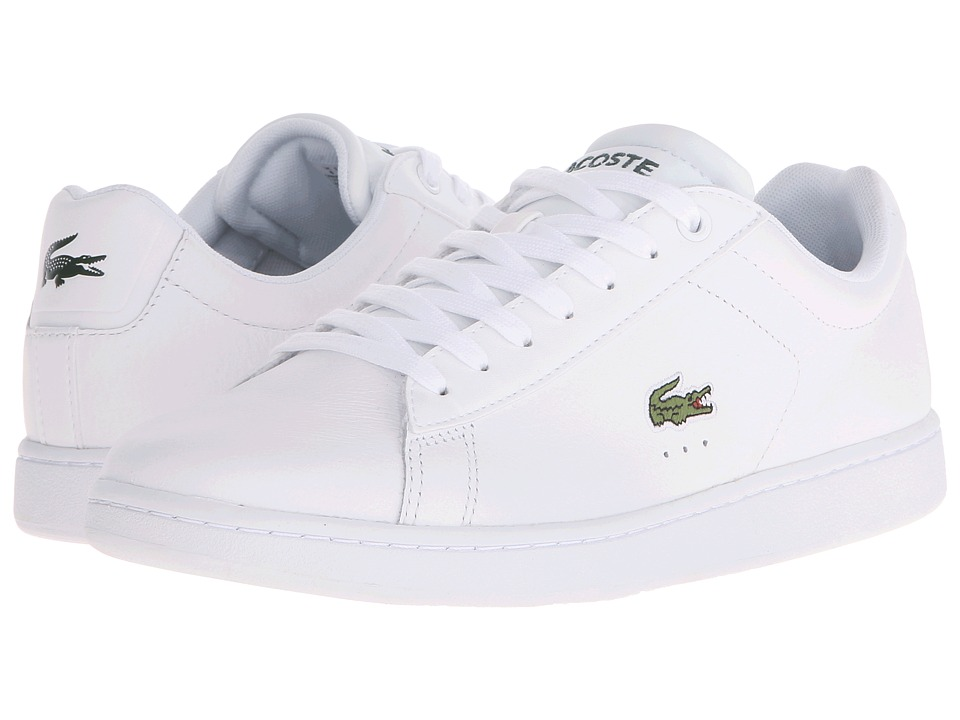Lacoste - Carnaby Evo LCR (White) Men's Shoes