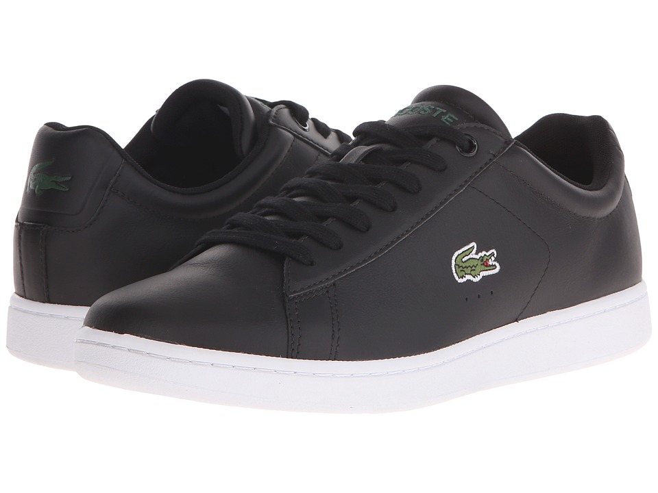 Lacoste - Carnaby Evo LCR (Black) Men's Shoes