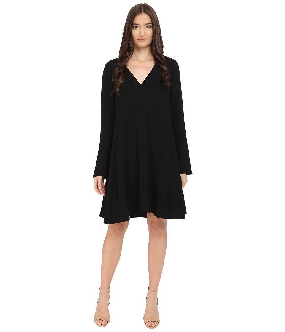 See by Chloe - Fluid Textured Jacquard Dress (Black) Women's Dress