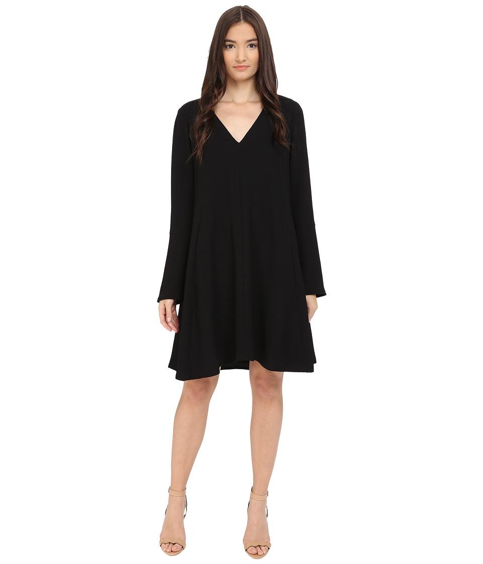 See by Chloe - Fluid Textured Jacquard Dress (Black) Women's Dress