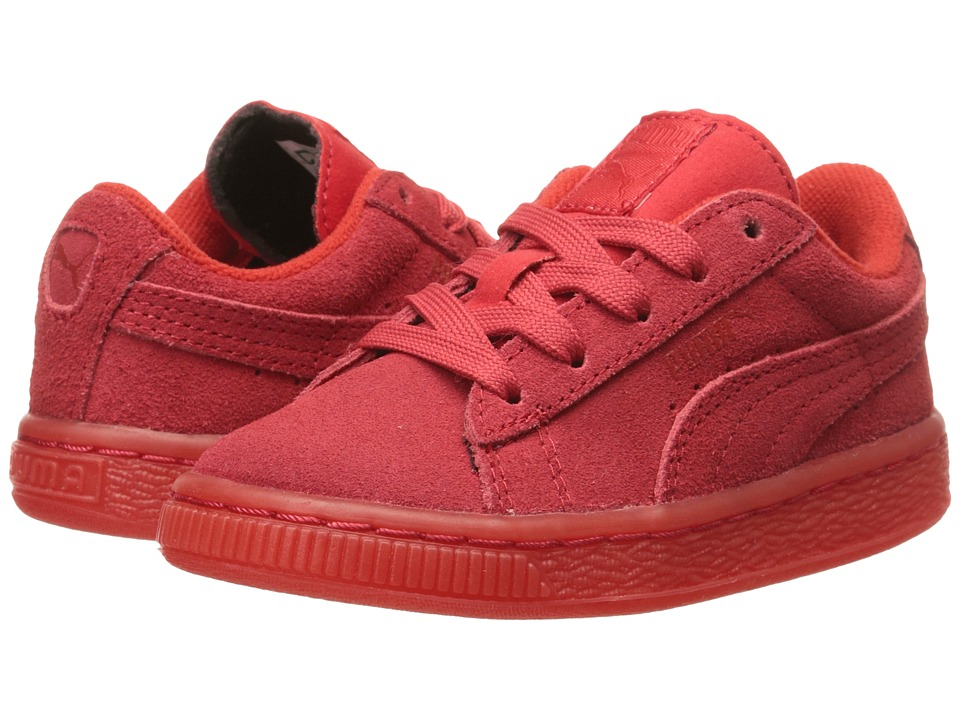 Puma Kids - Suede Iced (Toddler/Little Kid/Big Kid) (High Risk Red) Kids Shoes