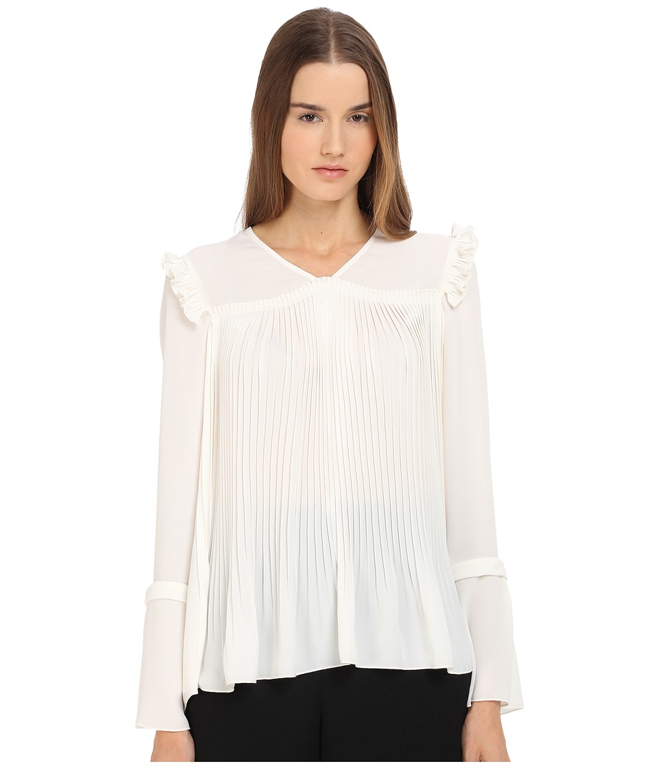 See by Chloe - Feminine Pleats Top (Off-White) Women's Blouse