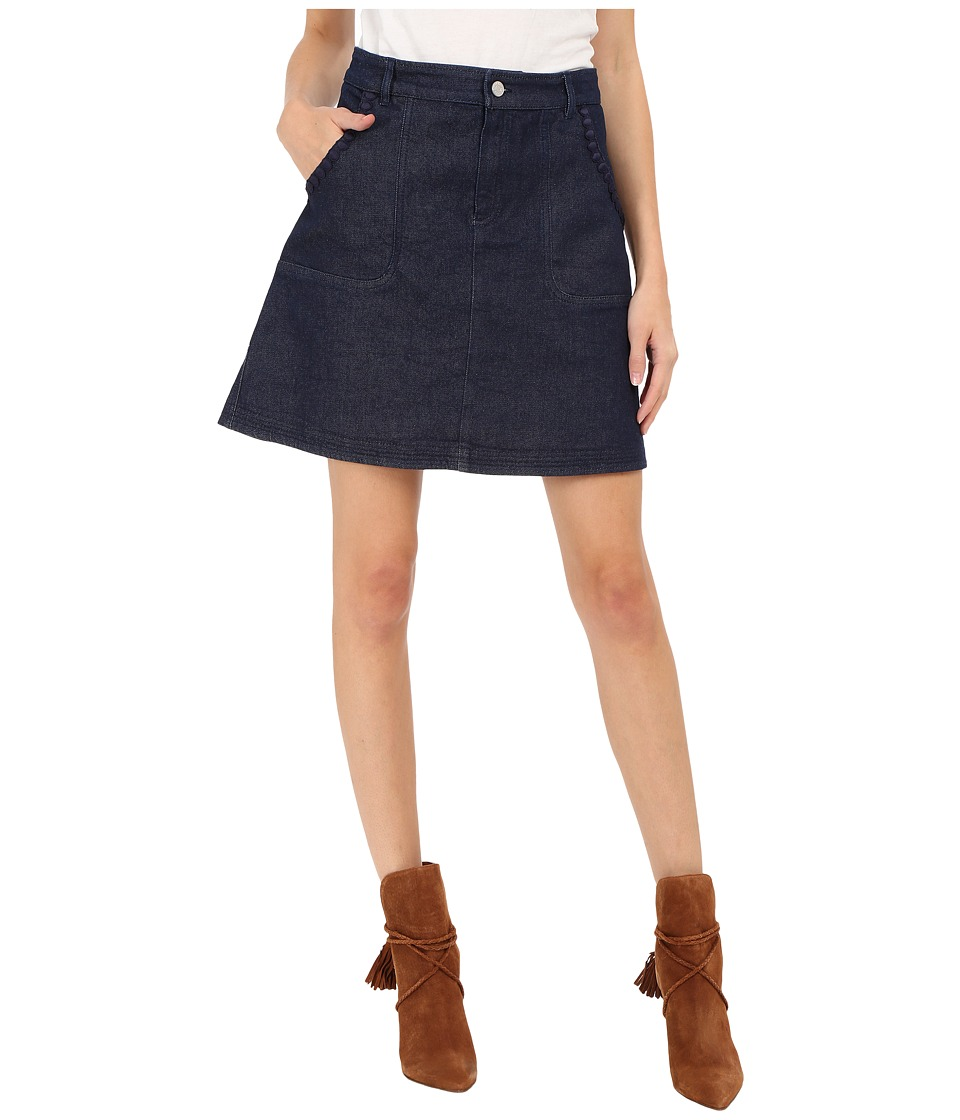 See by Chloe - Embellished Denim Skirt (Indigo) Women's Skirt