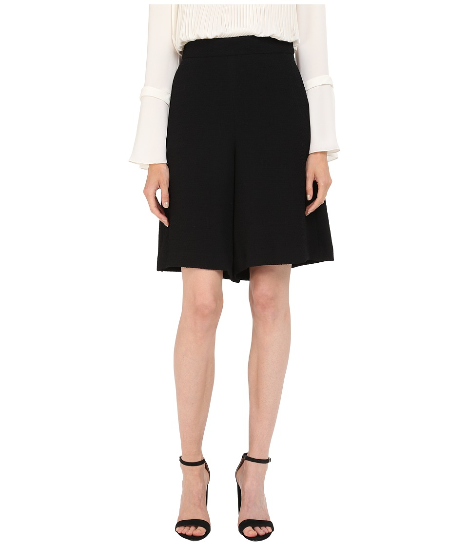 See by Chloe - Fluid Textured Jacquard Shorts (Black) Women's Shorts