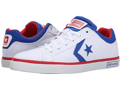 Converse - Star Street (White/Blue/Red) Shoes
