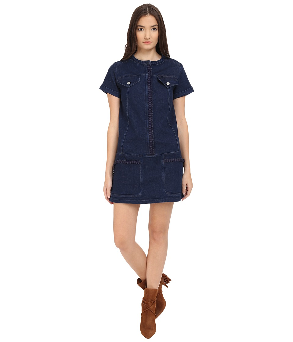 See by Chloe - Embellished Denim Dress (Indigo) Women's Dress