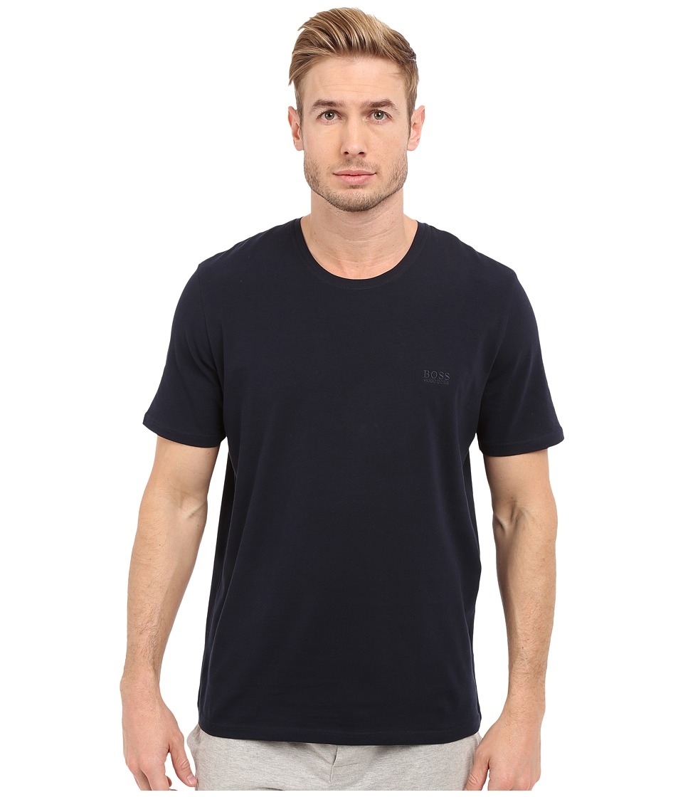 BOSS Hugo Boss - Short Sleeve Crew Basic Boss Tee (Navy) Men's T Shirt