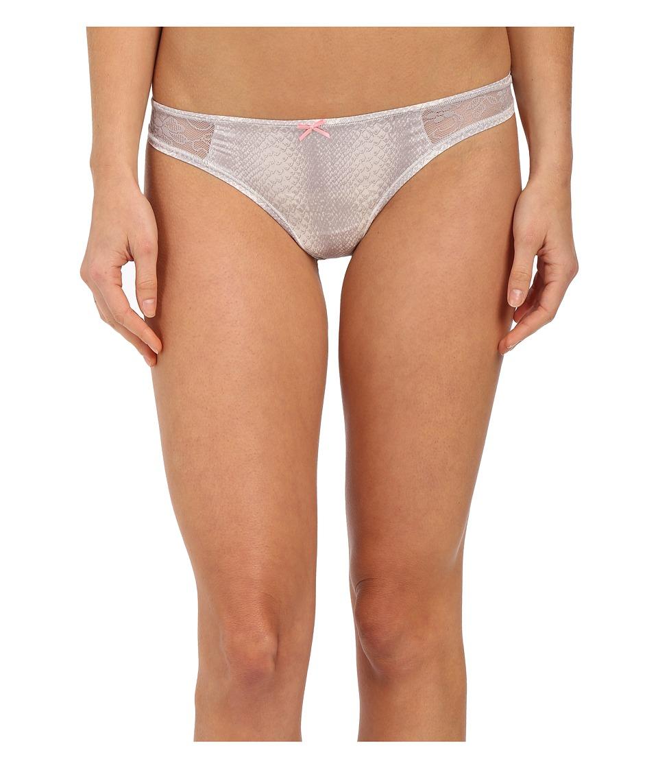 Betsey Johnson - Slinky Knit Lace Thong J2950 (Snakeskin) Women's Underwear