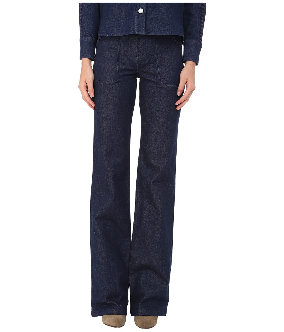 See by Chloe - Embellished Denim Pants (Indigo) Women's Casual Pants