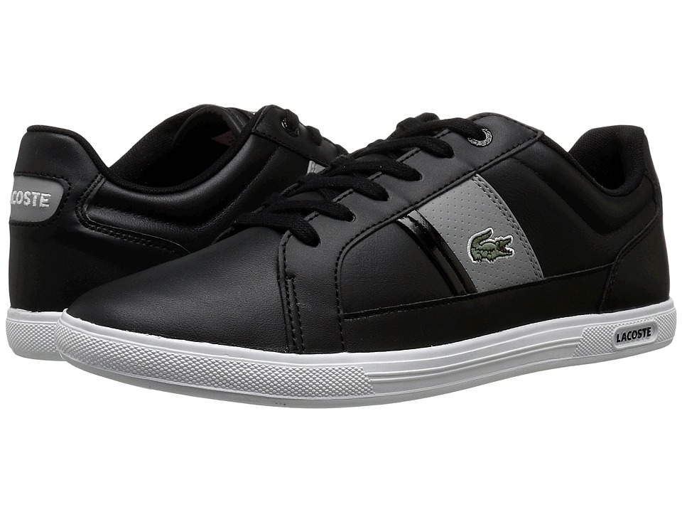 Lacoste - Europa LCR 3 (Black/Grey) Men's Shoes