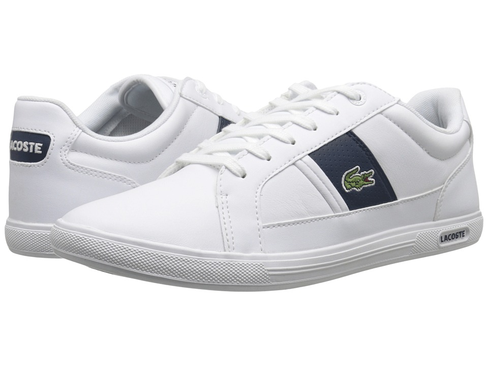 Lacoste - Europa LCR 3 (White/Dark Blue) Men's Shoes