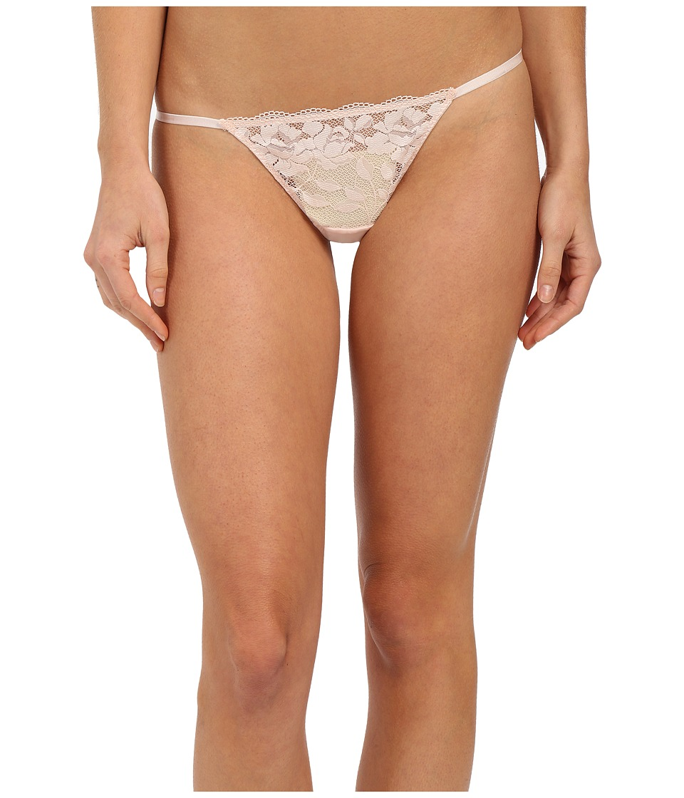 Betsey Johnson - Starlet Lace Thong (Champagne Kiss) Women's Underwear