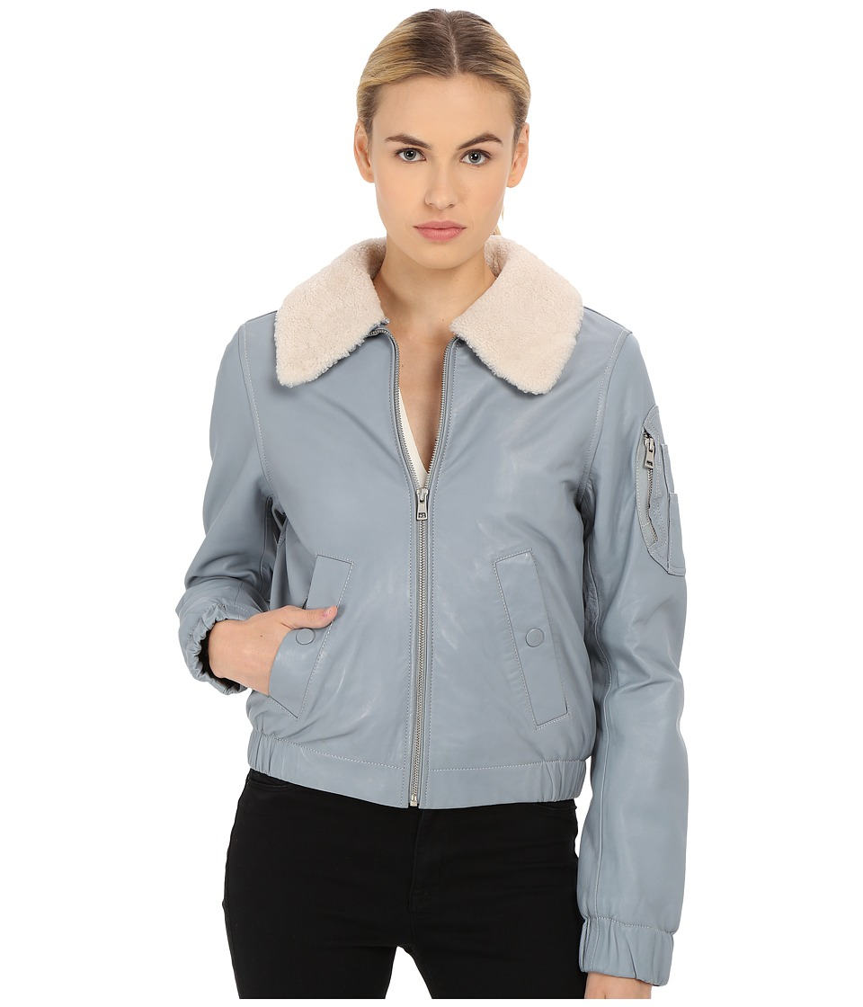 See by Chloe - Nappa Leather Jacket (Pearl Blue) Women's Coat