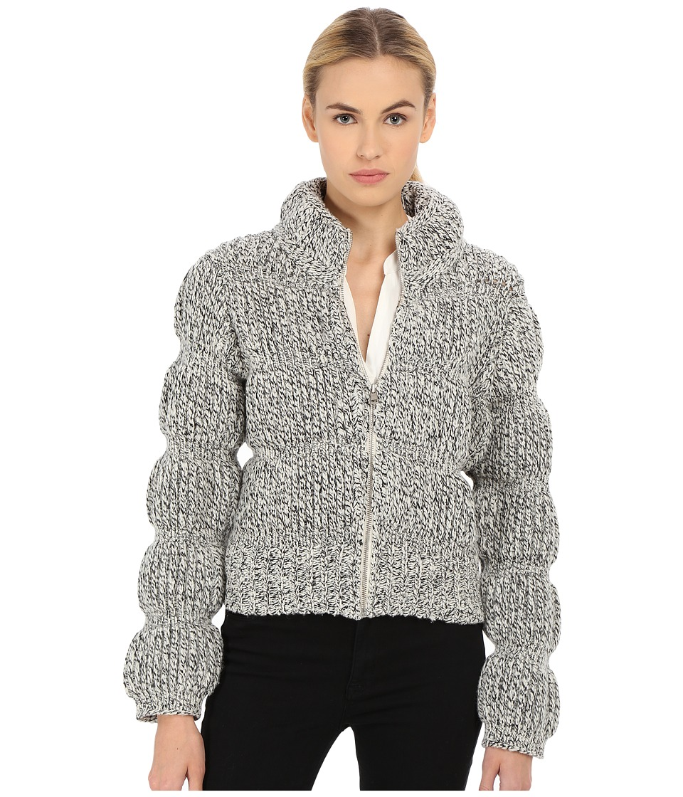 See by Chloe - Knitted Puffa Jacket (Black) Women's Coat