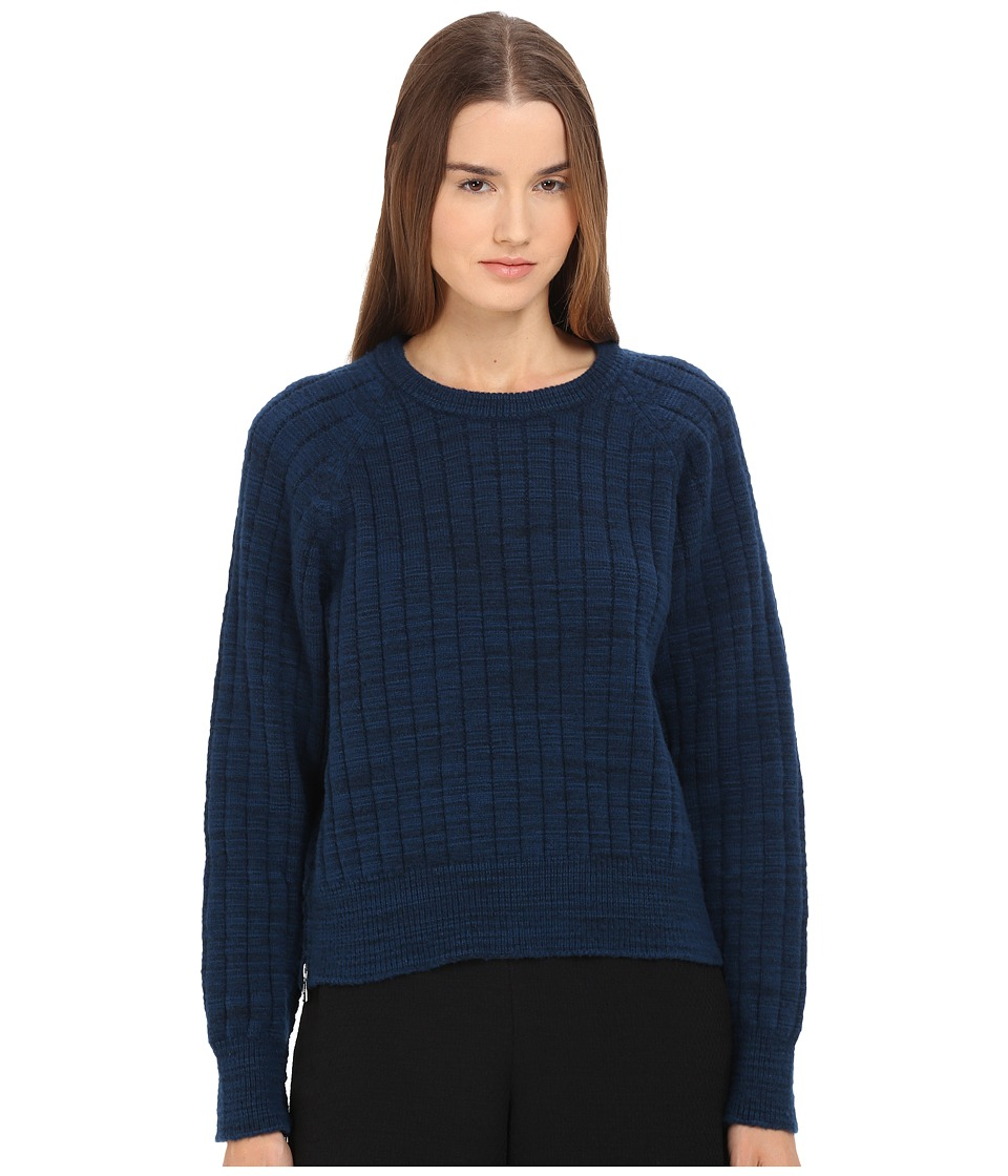 See by Chloe - Felted Knit Pullover (Electric Blue) Women's Sweater