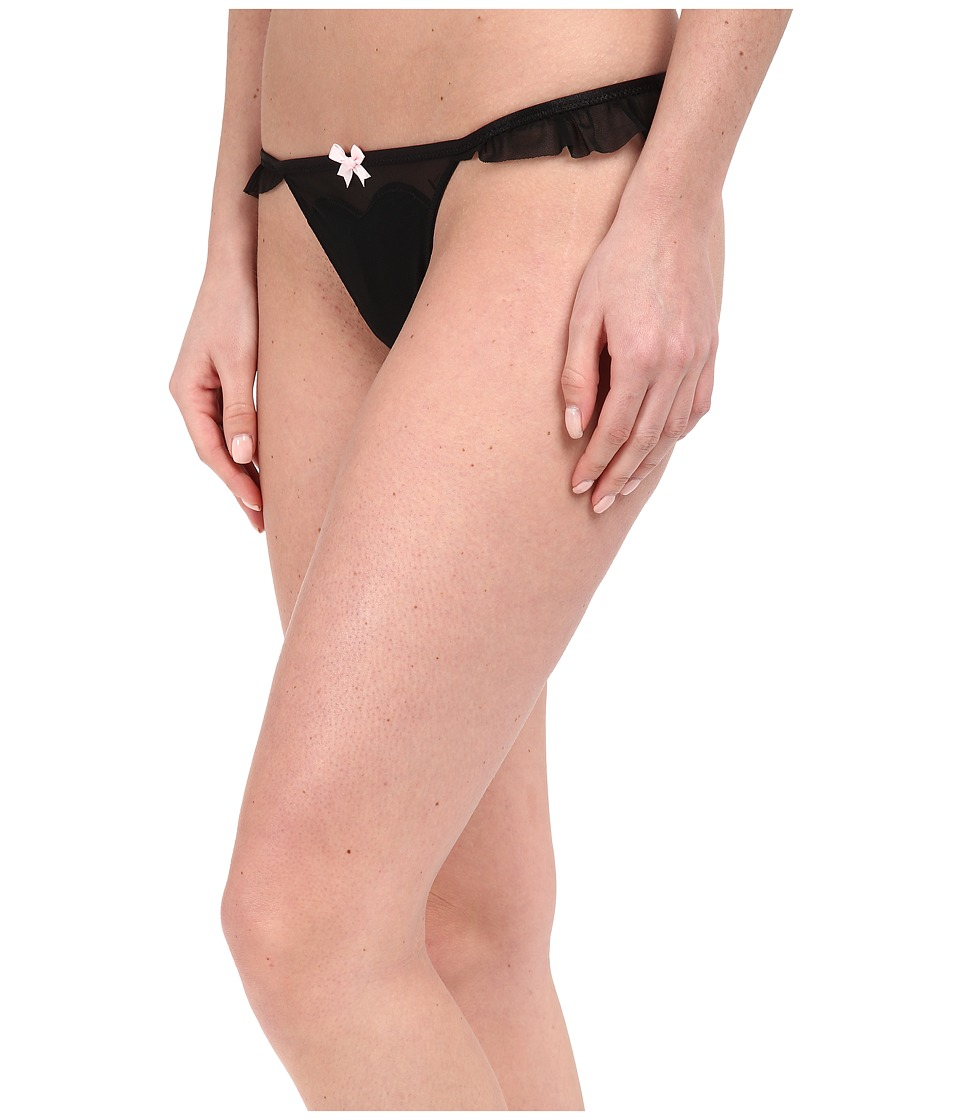 Betsey Johnson - Bridal Ruffle Thong J2028 (Raven Black) Women's Underwear