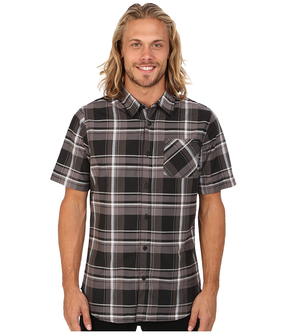 O'Neill - Brigade Short Sleeve Woven Top (Black) Men's Short Sleeve Button Up