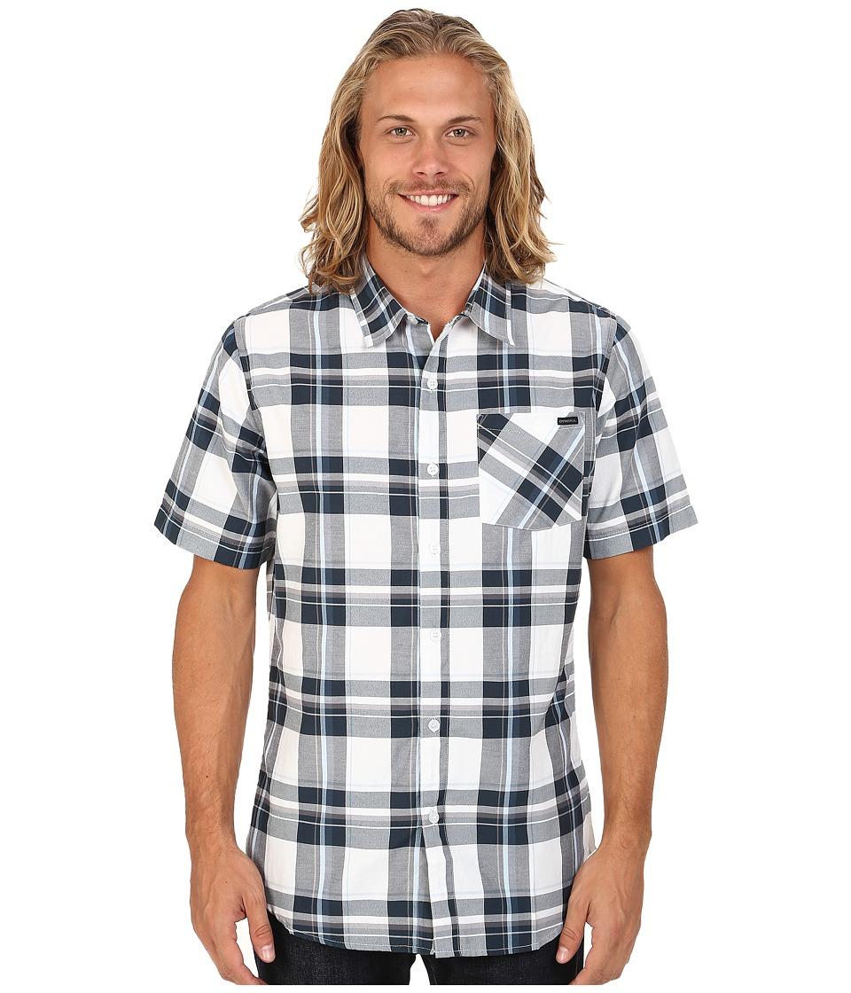 O'Neill - Brigade Short Sleeve Woven Top (Dark Blue) Men's Short Sleeve Button Up