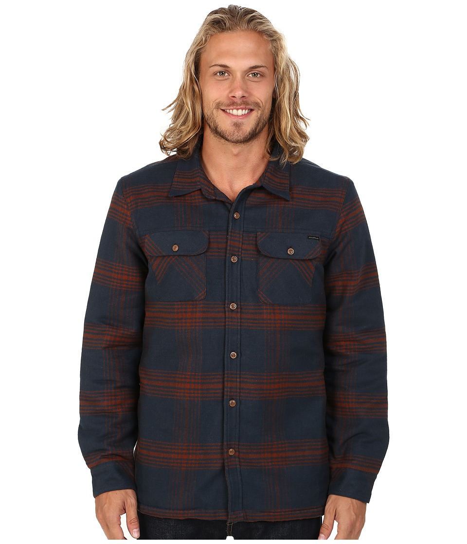 O'Neill - Pines Woven Sherpa Top (Navy) Men's Long Sleeve Button Up