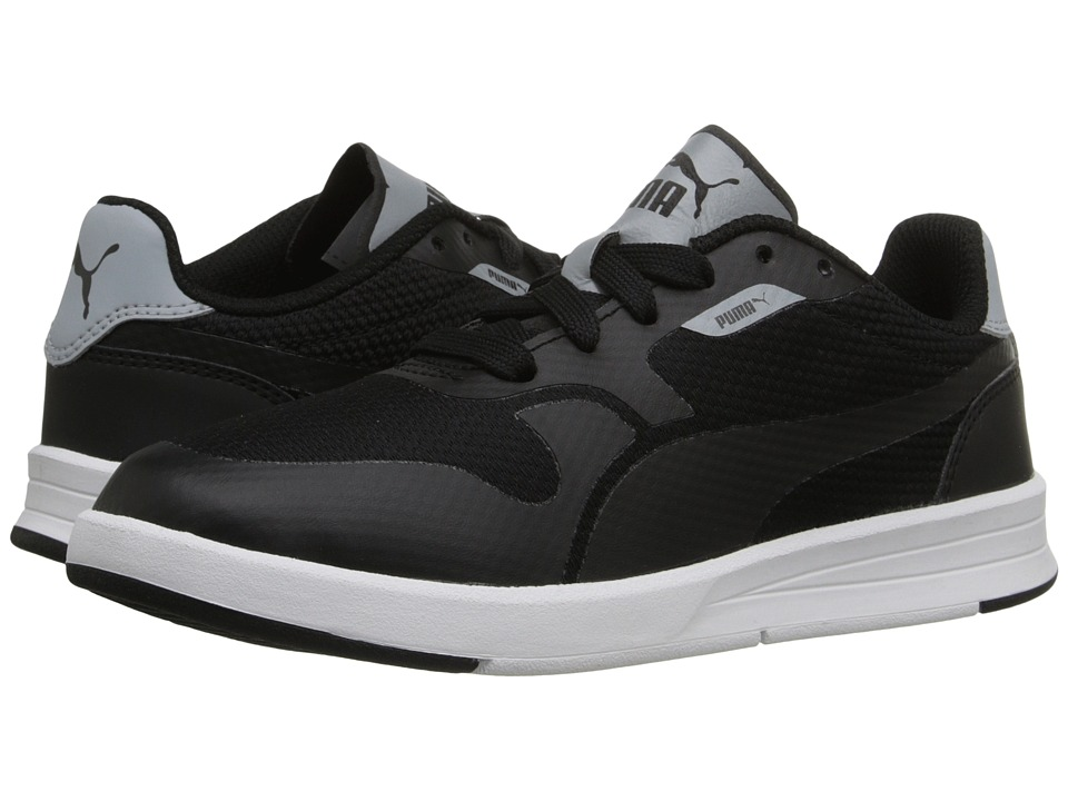 Puma Kids - Icra Evo (Little Kid/Big Kid) (Black/Quarry) Boys Shoes