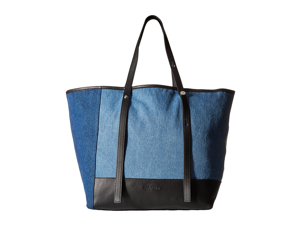 See by Chloe - Denim Patchwork Tote (Denim) Tote Handbags