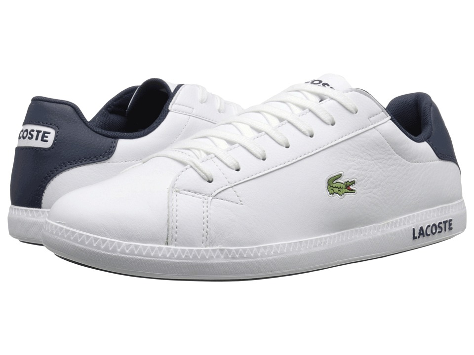 Lacoste - Graduate LCR3 (White/Dark Blue) Men's Shoes