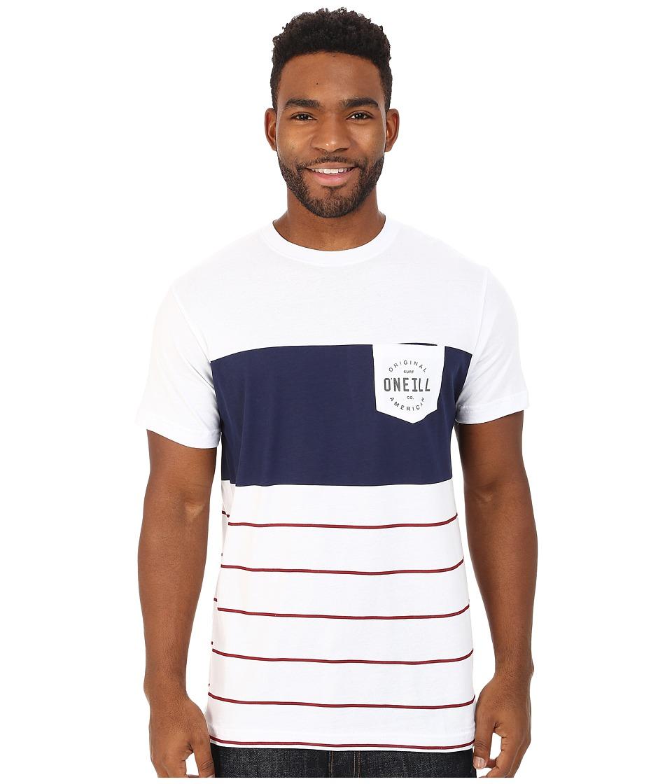 O'Neill - Tailgate Tee (White/Blue) Men's T Shirt