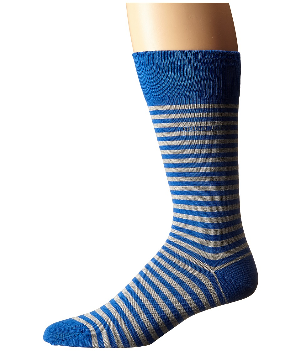 BOSS Hugo Boss - Marc Design (Royal Blue) Men's Crew Cut Socks Shoes