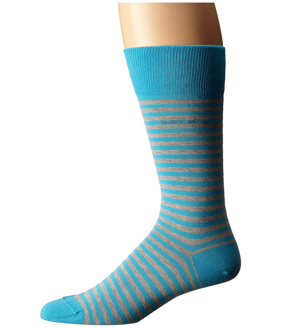 BOSS Hugo Boss - Marc Design (Teal) Men's Crew Cut Socks Shoes