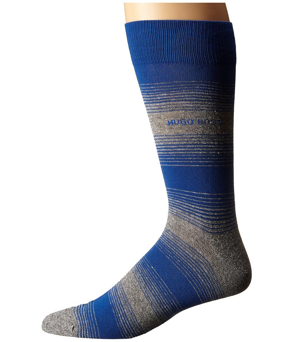 BOSS Hugo Boss - Linen Stripe (Royal Blue) Men's Crew Cut Socks Shoes