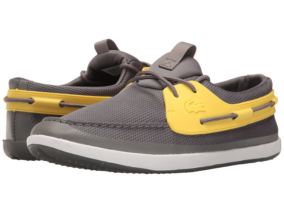 Lacoste - Landsailing 116 1 (Dark Grey/Yellow) Men's Shoes