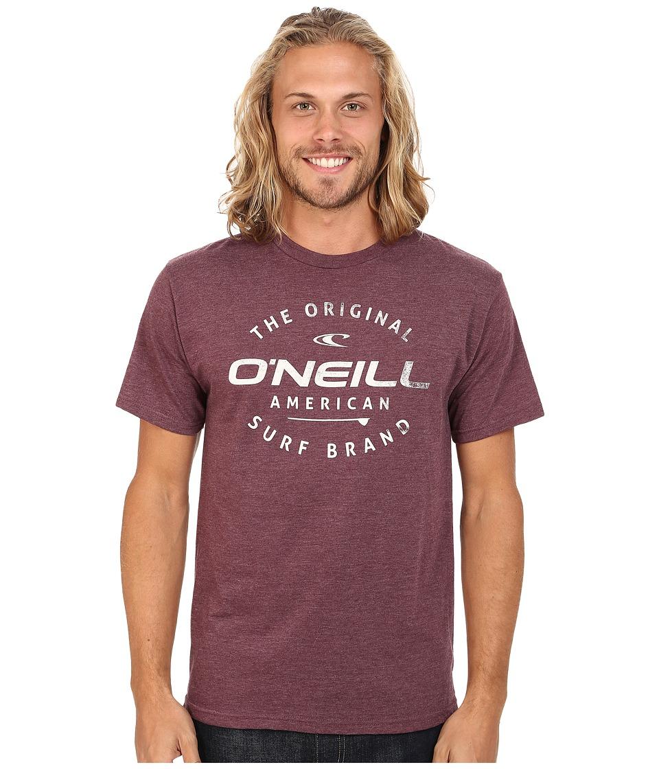O'Neill - Drive Thru Tee (Burgundy Heather) Men's T Shirt