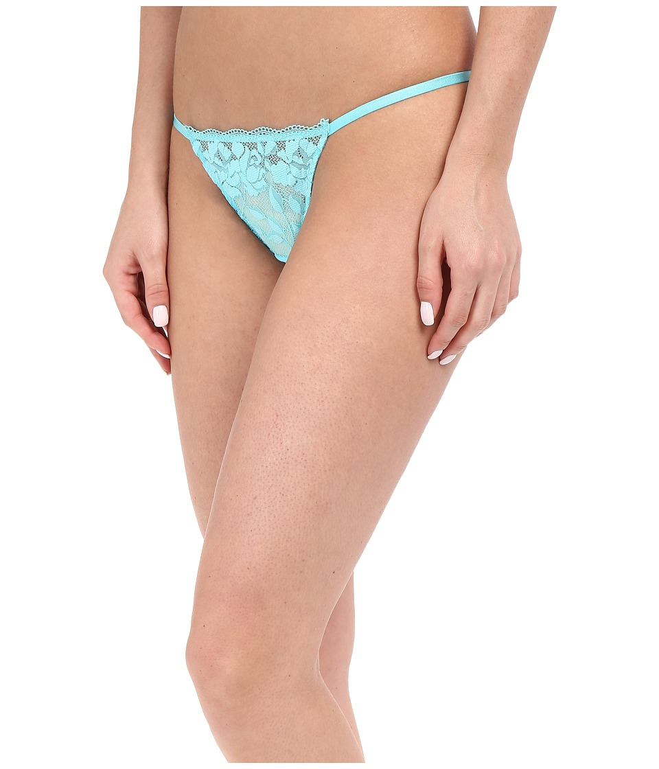 Betsey Johnson - Starlet Lace Thong (Blue Radiance) Women's Underwear