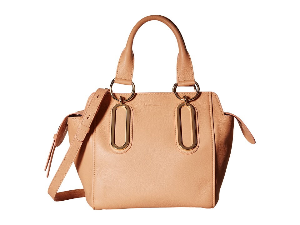 See by Chloe - Natural Grain Crossbody (Sweet Peach) Satchel Handbags