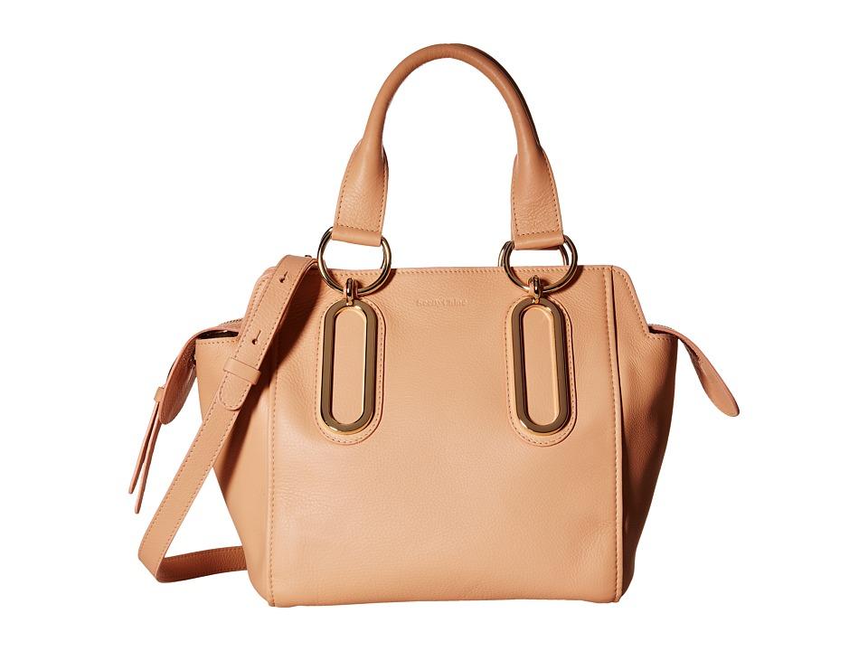 See by Chloe - Natural Grain Crossbody (Sweet Peach) Satchel Handbags