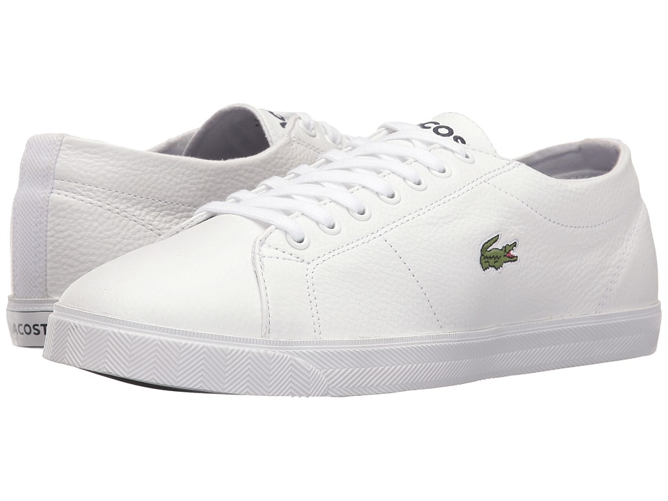 Lacoste - Marcel LCR3 (White/Dark Blue) Men's Shoes