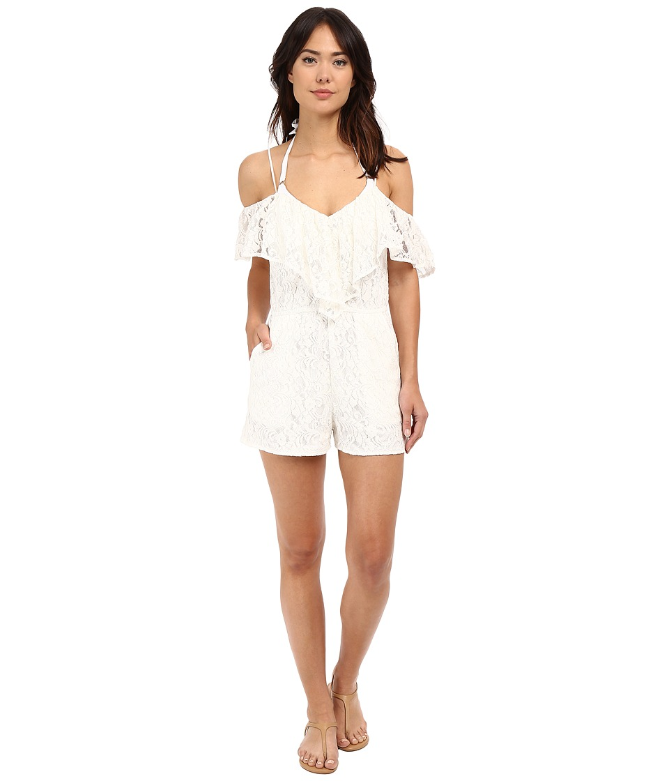 6 Shore Road by Pooja - Overlay Picnic Romper Cover-Up (Moonlight) Women's Swimsuits One Piece