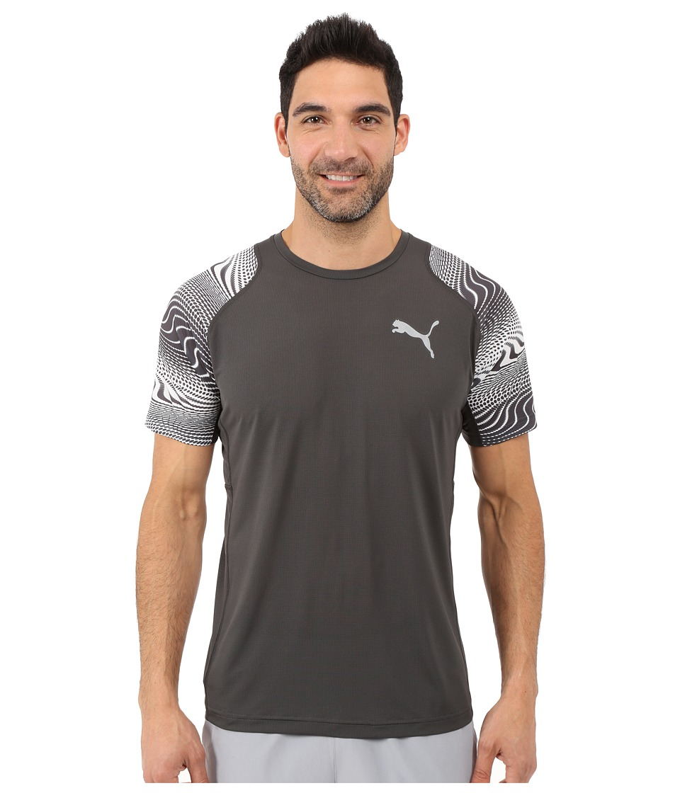 PUMA - Vent Graphic Tee (Asphalt/White 2) Men's T Shirt