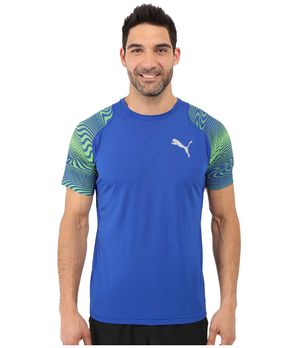 PUMA Vent Graphic Tee (Surf The Web/Green Gecko) Men