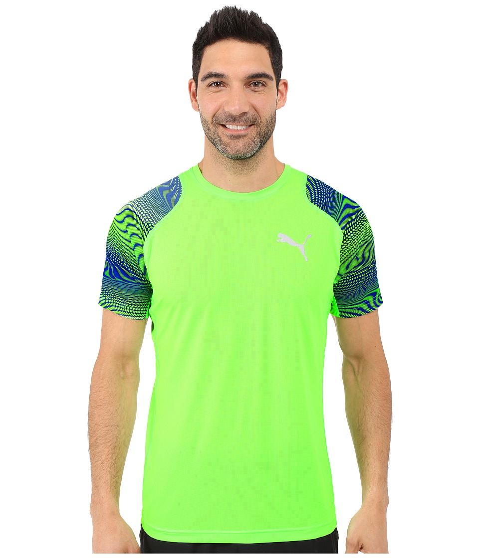 PUMA - Vent Graphic Tee (Green Gecko/Surf The Web) Men
