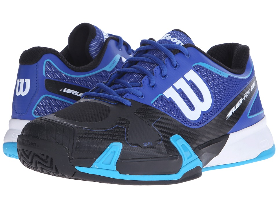 Wilson - Rush Pro 2.0 (Scuba Blue/Black) Men's Tennis Shoes
