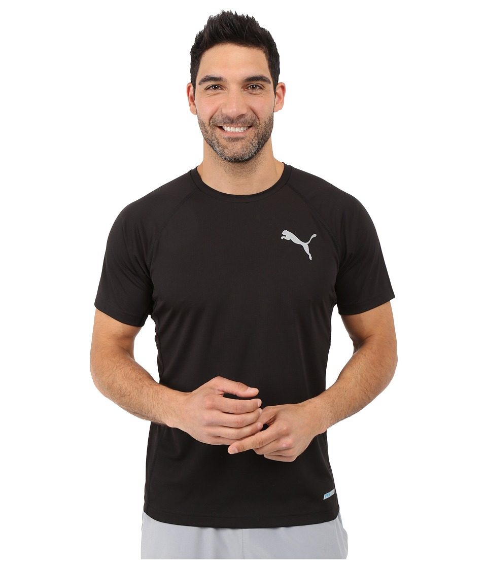 PUMA - Pwrcool Solid Tee (Black/White) Men's T Shirt