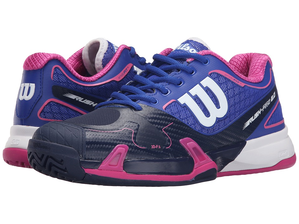 Wilson - Rush Pro 2.0 (Blue Iris/Navy/Fiesta Pink) Women's Tennis Shoes