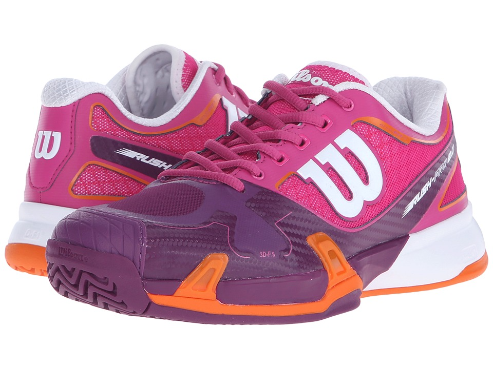 Wilson - Rush Pro 2.0 (Fiesta Pink/Plumberry) Women's Tennis Shoes