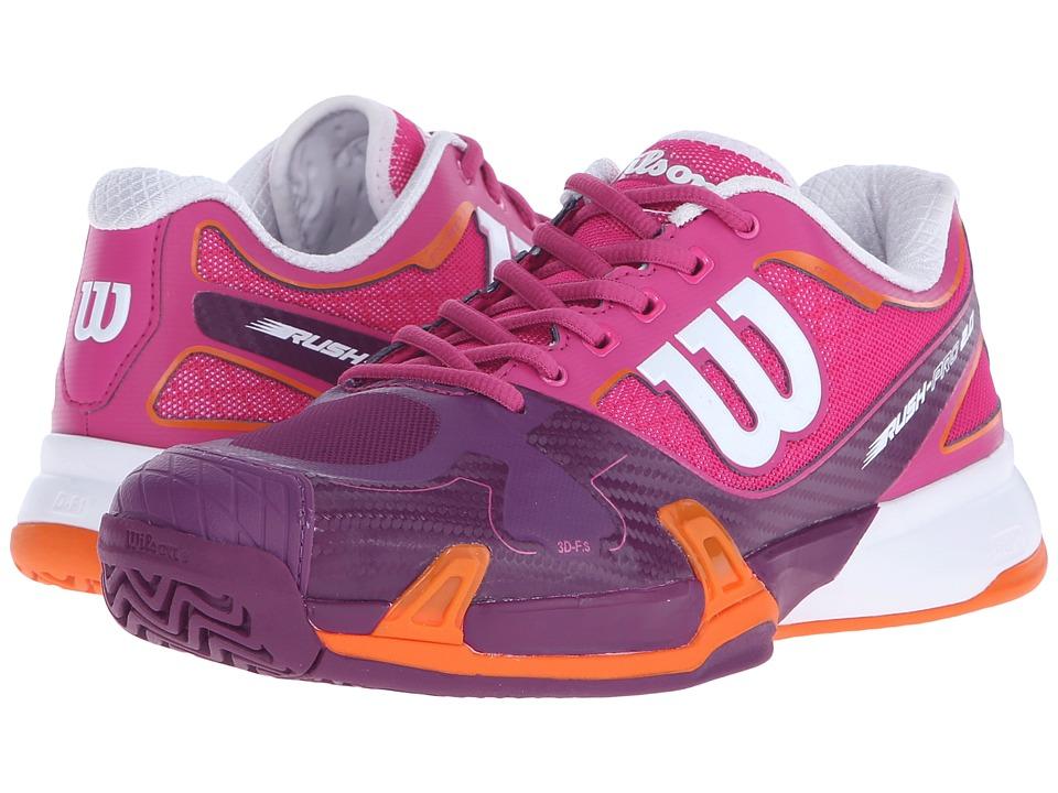 Wilson - Rush Pro 2.0 (Fiesta Pink/Plumberry) Women's Tennis Shoes