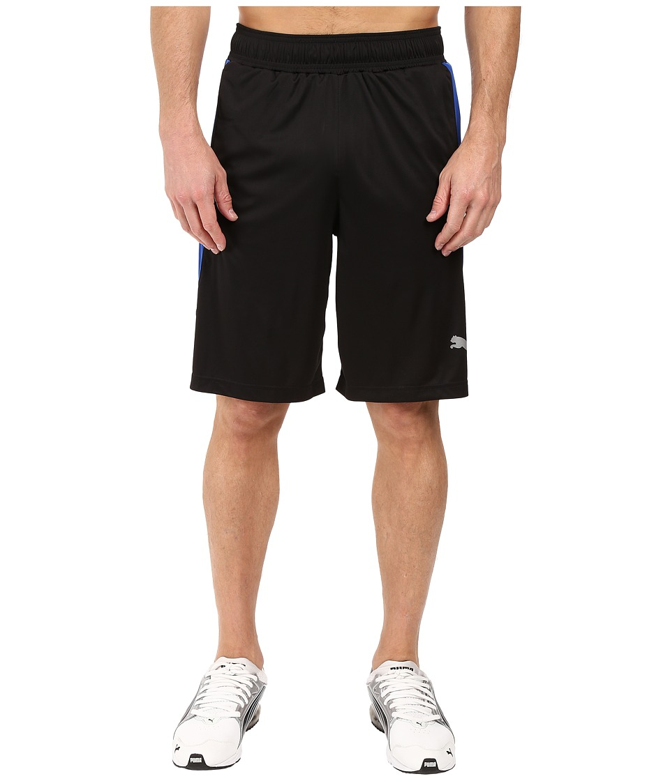 PUMA - Knit Colorblock Shorts (Black/Surf The Web) Men's Shorts