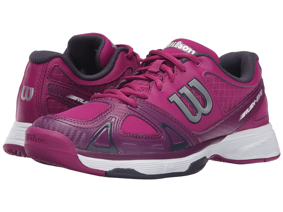 Wilson - Rush Evo (Pink/Dark Plumberry/Coal) Women's Tennis Shoes